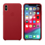 Apple iPhone XS, Leather Case - Red